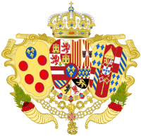 Coat of Arms of Infante Charles of Spain as Duke of Parma, Piacenza and Guastalla.svg