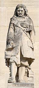 Estatua de Colbert en el palacio del Louvre.