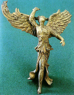 Nike (mythology) - Statuette of goddess Nike found in Vani, Georgia