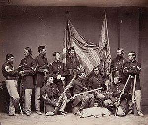 Illinois in the American Civil War - Image: Colour bearers of the 71st Illinois