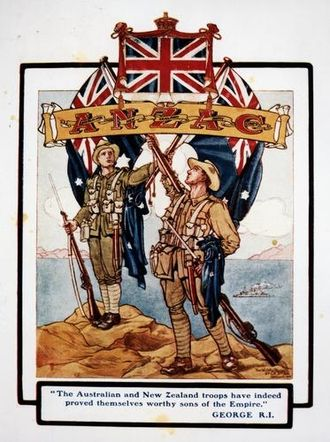 Australian and New Zealand Army Corps - Popular illustration of Anzac troops after the fighting at Gallipoli