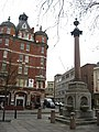 Column with drinking water fountains at the north end of Tabernacle Street - Paul Street, EC1 (2) - geograph.org.uk - 1109957.jpg
