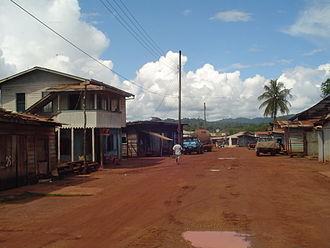 Mahdia, Guyana - Commercial area in Mahdia, May 2006
