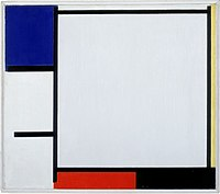 Composition with blue, yellow, red, black, and gray by Piet Mondrian Stedelijk Museum Amsterdam A 1996.jpg