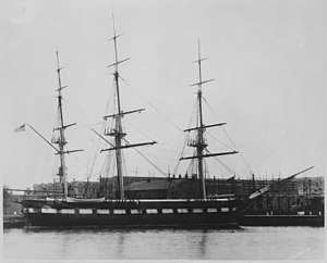 USS Constellation (1854) - Constellation in 1926