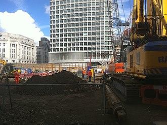 St Giles, London - St Giles Crossrail reconstruction September 2010