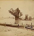 Construction of Eads Bridge. View from second pier to east. August 1873.jpg