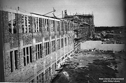 Construction of the Forgan Smith Building began in 1938. Construction of Forgan Smith.jpg