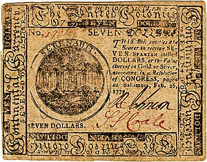 Continental Currency $7 banknote obverse (February 26, 1777).jpg