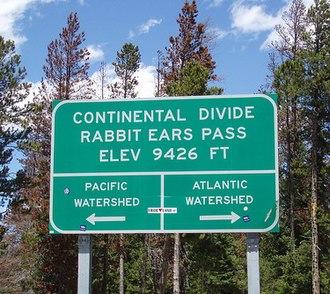 Rabbit Ears Pass - Continental Divide sign at Rabbit Ears Pass