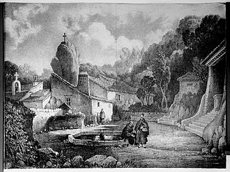 Convent of the Capuchos (Sintra) - An engraving of life within the confines of the convent