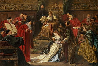 King Lear - Cordelia in the Court of King Lear (1873) by Sir John Gilbert