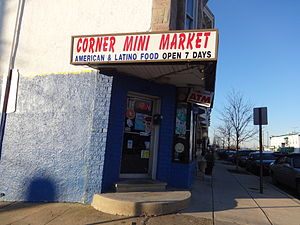 History of the Hispanics and Latinos in Baltimore - Latino Corner Mini Market, Greektown, December 2014.