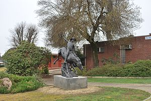 The Man from Snowy River (poem) -  Statue of The Man from Snowy River at Corryong, Victoria, Australia