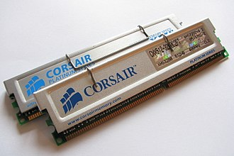 DDR SDRAM - Corsair DDR-400 memory with heat spreaders