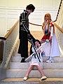 Cosplayers of Kirito, Asuna and Yui from Sword Art Online 20140609.jpg