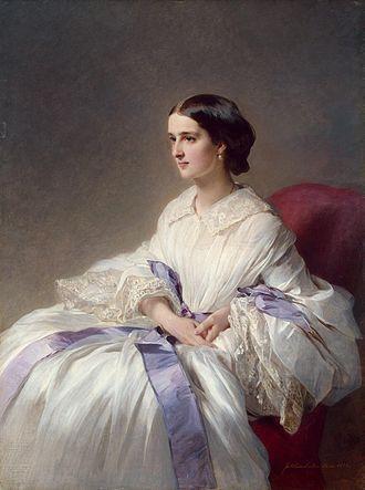 Pavel Andreyevich Shuvalov - Portrait of Olga Esperovna Beloselskaya-Belozerskaya by Franz Xaver Winterhalter (1858)