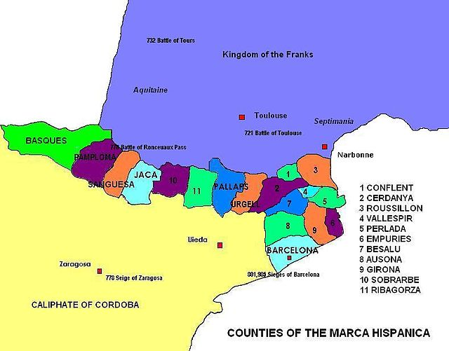 Counties of Marca Hispania III