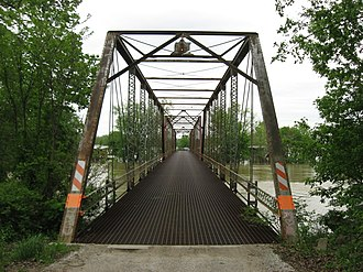 National Register of Historic Places listings in Daviess County, Indiana - Image: County Bridge No. 45, western portal