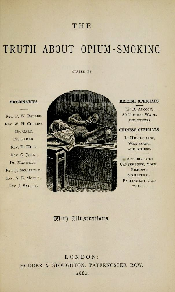Cover page of The Truth About Opium Smoking (1882)
