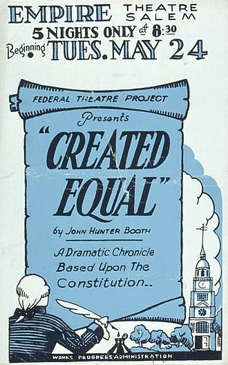 John Hunter Booth - Poster for the Federal Theatre Project production of John Hunter Booth's Created Equal (1938)