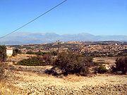 Typical summer landscape of Crete