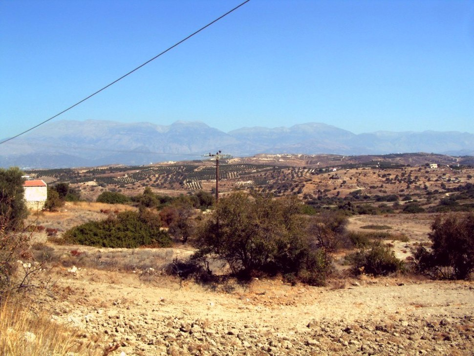 Crete typical landscape