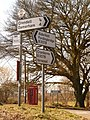 Cripplestyle, road signs at village centre - geograph.org.uk - 1741240.jpg
