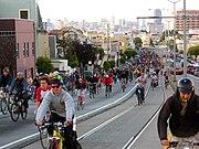 San Francisco Critical Mass, 29 April 2005.