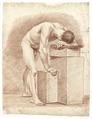 Croquisteckning föreställande naken man, 1760-tal - Skoklosters slott - 99358.tif