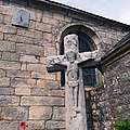 Cross and Sundial on Chapelle Saint-Marc, Kervalet, Batz-sur-Mer, France.jpg