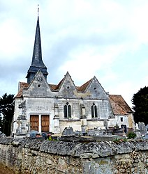 The church in Crosville-la-Vieille