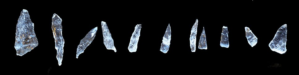 Crystal spear tips