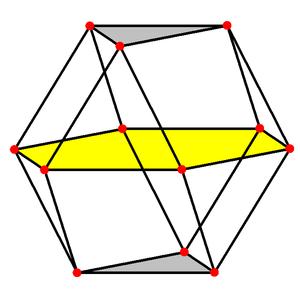 Triangular orthobicupola - Image: Cuboctahedron 3 planes