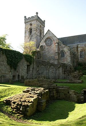 Elizabeth Melville - Culross Abbey Kirk, where Elizabeth Melville worshipped.