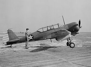 Curtiss-Wright CW-22 - A U.S. Navy SNC-1 in April 1942