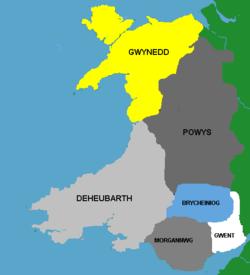 Medieval kingdoms of Wales.