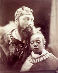 Déjatch Alámayou and and Báshá Félika, by Julia Margaret Cameron.jpg