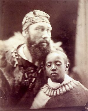 Tristram Speedy - Tristram Speedy with Prince Alemayehu, as photographed by Julia Margaret Cameron in 1868.