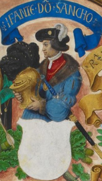 Sancho, Count of Provence - Sancho depicted in the late medieval Genealogia dos Reis de Portugal (1530–34), now manuscript BL Add MS 12531