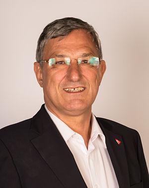 Bernd Riexinger - Image: DIE LINKE Bundesparteitag Mai 2014 Riexinger, Bernd