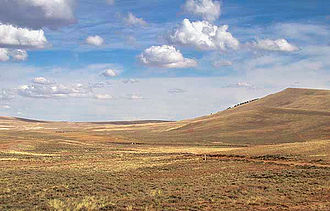Emigrant Trail in Wyoming - South Pass facing west toward Pacific Springs