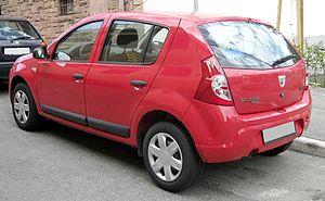 Dacia Sandero - 2009 Dacia Sandero rear view