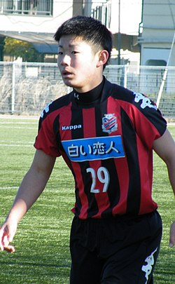 Daiki SUGA, Consadole Sapporo U18, (20141227, Yono-Hachioji, Saitama) Go For 2018 Cup.jpg