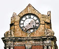 Damaged clock tower on Rissik Street Post Office.JPG