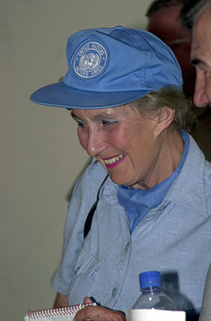 Margaret Anstee - Dame Margaret Anstee at the Honduran Military Academy in Tegucigalpa, Honduras