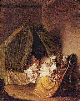Daniel Nikolaus Chodowiecki – Pokój położnicy, ok. 1770