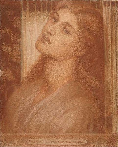 File:Dante Gabriel Rossetti - La Pia de' Tolomei (Study).jpg