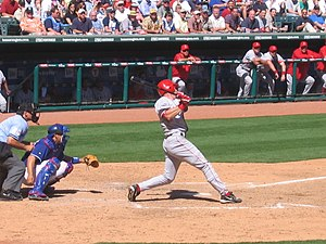 Darin Erstad - Erstad hits a home run for the Angels.