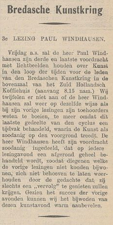 De Bredasche Courant vol 149 no 033 3e lezing Paul Windhausen.jpg